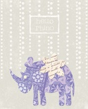 Hello Rhino Print by Morgan Yamada