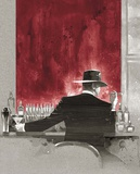 Cigar Bar Red Study Posters by Brent Lynch