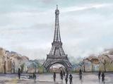 Watercolour Sketch Book Paris Posters by  Art Atelier Alliance
