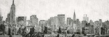 Graphite Skyline Posters by Evangeline Taylor