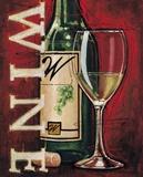 White Wine Tasting Poster by Bruce Langston