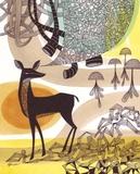 Doodle Deer Prints by Richard Faust