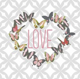 Butterfly Love Print by Bella Dos Santos