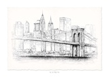 Brooklyn Bridge Pen & Ink Poster by  Art Atelier