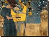 Die Musik Stretched Canvas Print by Gustav Klimt