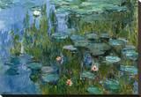 Nympheas Reproducción en lienzo de la lámina por Claude Monet