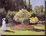 Claude Monet - Lady in the Garden - Şasili Gerilmiş Tuvale Reprodüksiyon