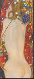 Wasserschlangen IV Reproducción en lienzo de la lámina por Gustav Klimt