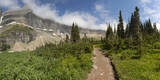 USA, Montana, Glacier National Park. Hiking trail and landscape. Photographic Print by Don Grall