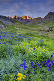 USA, Colorado. Sunrise in American Basin in the San Juan Mountains. Photographic Print by Dennis Flaherty