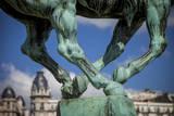 Statue at Pont Bir Hakeim by Dutch sculptor Wederlink, Paris, France. Photographic Print by Brian Jannsen