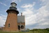 USA, Rhode Island, Block Island, Mohegan Bluffs, Southeast Lighthouse. Fotografie-Druck von Cindy Miller Hopkins