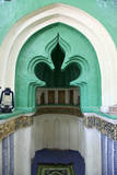 Kizimkazi, Zanzibar, Tanzania. Mihrab of the Mosque with inscriptions. Photographic Print by Charles Cecil
