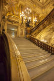 Entry stairs to grand foyer of Garnier Opera House, Paris, France. Photographic Print by Brian Jannsen