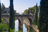 River near Passeig Mallorca, Palma, Majorca, Balearic Islands, Spain. Photographic Print by Nico Tondini
