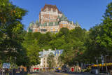 Lower old town with Chateau Frontenac, Quebec City, Quebec, Canada. Photographic Print by Jamie & Judy Wild