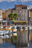 Sailboats in La Ciotat harbor, Bouches-du-Rhone, Provence, France. Photographic Print by Brian Jannsen