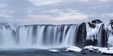 View of waterfall, Godafoss, Iceland. Photographic Print by Bill Young