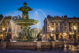 Fontaine des Fleuves with L'eglise Sainte-Marie-Madeleine, France. Photographic Print by Brian Jannsen