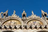 Facade of Mark's Basilica, St. Mark's Square, Venice, Veneto, Italy. Photographic Print by Nico Tondini