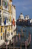Italy, Venice, Gondola Piers with Basilica Santa Maria Della Salute. Photographic Print by Terry Eggers