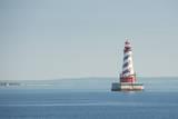 USA, Michigan, Great Lakes, Lake Michigan, White Shoal Lighthouse. Photographic Print by Cindy Miller Hopkins