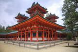 Shinto shrine on the grounds of the Heian Jingu Shrine, Kyoto, Japan. Photographic Print by Dennis Flaherty