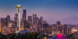 Dawn Twilight over Seattle Skyline, Washington USA Photographic Print by Brian Jannsen