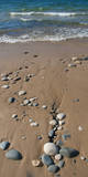 USA, Michigan. Pebbles on a beach along Lake Superior. Photographic Print by Anna Miller