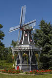 Dutch windmill, Nelis' Dutch Village theme park, Holland, Michigan. Photographic Print by Randa Bishop