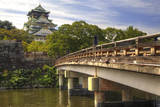 Japan, Nara Prefecture, Osaka. View of the Osaka Castle from bridge. Photographic Print by Dennis Flaherty