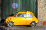 Italy, Amalfi, Old Fiat parked in a no parking zone. Photographic Print by Terry Eggers