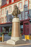 Old town square with Louis XIV statue, Quebec City, Quebec, Canada. Photographic Print by Jamie & Judy Wild
