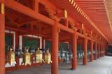 Japan, Nara. Hanging lanterns at Kasuga Taisha Shrine built in 768 AD. Photographic Print by Dennis Flaherty