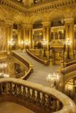 Grand staircase entry to Palais Garnier Opera House, Paris, France. Fotografisk trykk av Brian Jannsen