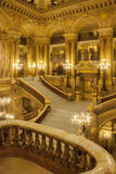 Grand staircase entry to Palais Garnier Opera House, Paris, France. Photographic Print by Brian Jannsen