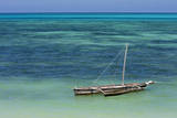 Jambiani, Zanzibar, Tanzania. Outrigger Canoe on the Indian Ocean. Photographic Print by Charles Cecil