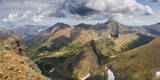 View from the summit of Pollock Mountain, Glacier NP, Montana, USA Stampa fotografica di Chuck Haney