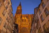 Strasbourg Cathedral over buildings in Strasbourg, Alsace, France. Photographic Print by Brian Jannsen