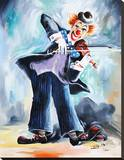 Clown I Stretched Canvas Print by Pasquale Colle