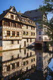 Buildings along the canal of River Lil in Strasbourg, Alsace, France. Photographic Print by Brian Jannsen