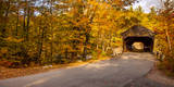 Albany Covered Bridge near Conway, New Hampshire, USA Photographic Print by Brian Jannsen
