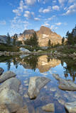 USA, California, Inyo National Forest. Rocky shore of Garnet Lake. Photographic Print by Don Paulson