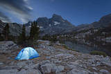 USA, California, Inyo National Forest. Tent at night by Garnet Lake. Photographic Print by Don Paulson