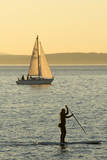 USA, Washington, Seattle. Watersports on the Puget Sound. Photographic Print by Steve Kazlowski