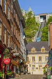 Funicular to Old Upper Town, Quebec City, Quebec, Canada. Photographic Print by Jamie & Judy Wild