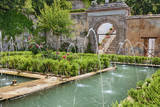 The Generalife gardens, Alhambra grounds, Granada, Spain. Fotografisk tryk af Julie Eggers