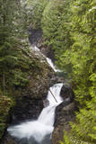 USA, Washington, Olallie SP, Twin Falls on the Snoqualmie River. Photographic Print by Jamie & Judy Wild