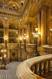 Interior of Garnier Opera House, Paris, France. Photographic Print by Brian Jannsen