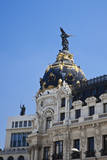 Spain, Madrid. Metropolis building on Grand Via. Photographic Print by Julie Eggers